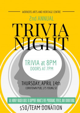 2016 Trivia Night Flyer