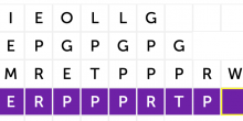 A screenshot of the Skilled Trades word scramble.