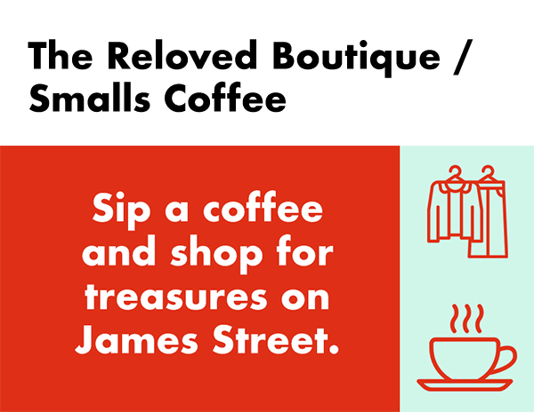 The Reloved Boutique / Smalls Coffee silent auction package