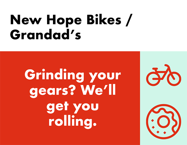 New Hope Bikes / Grandads silent auction package