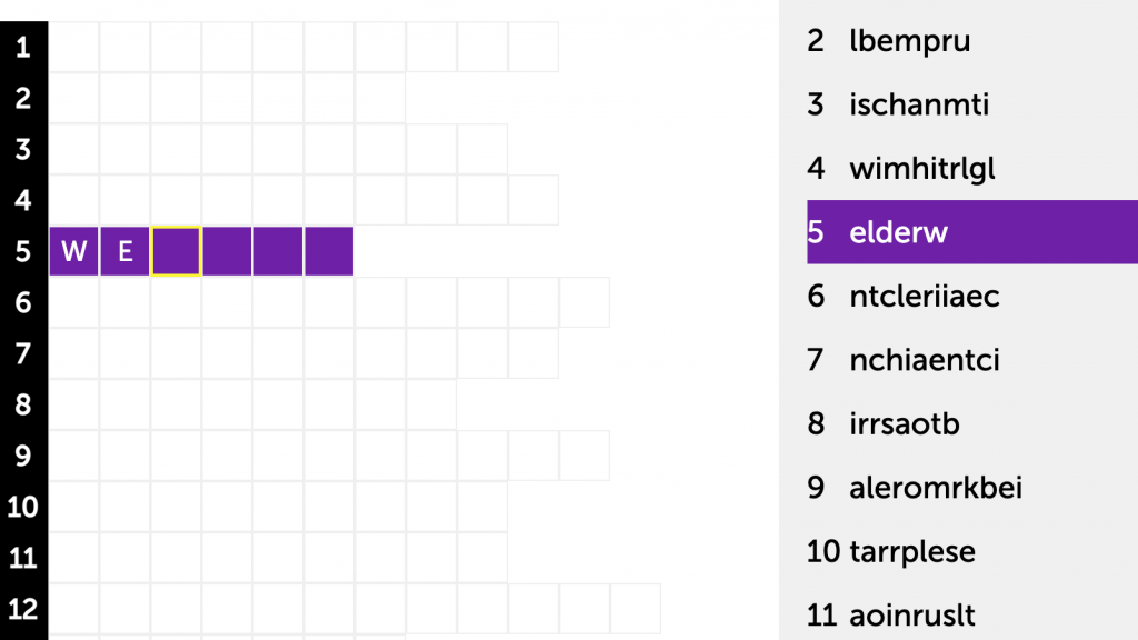 A click through image to the skilled trades word scramble
