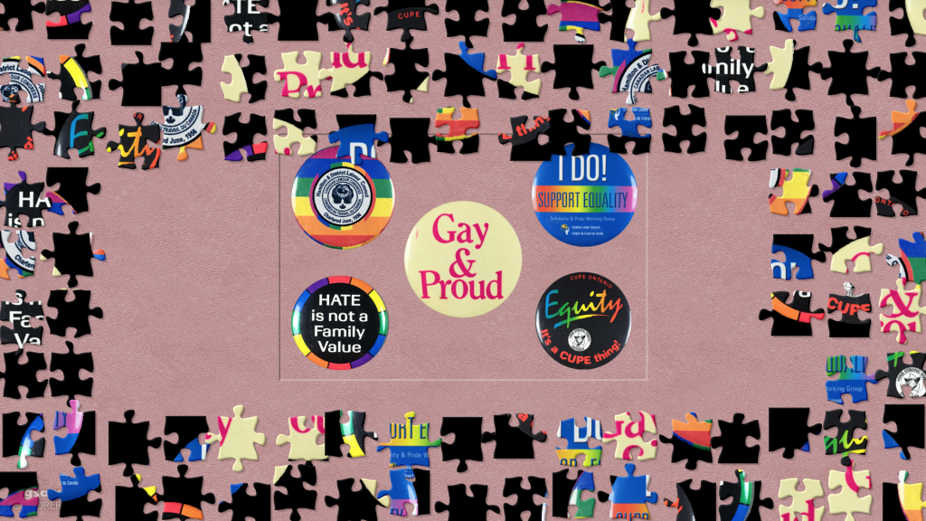 An click through image of a LGBTQ+ button puzzle and other puzzles on WAHC's website