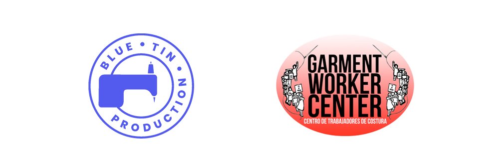 Logos for Blue Tin Production and Garment Worker Center