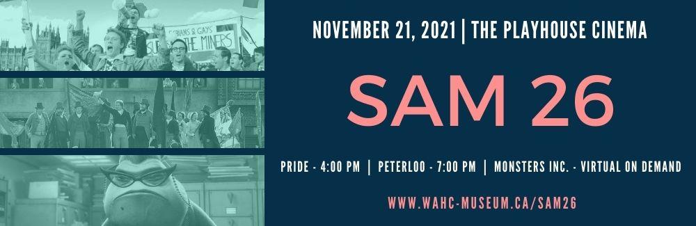 SAM 26 Slider for Movie Night at The Playhouse CInema, November 21, 2021